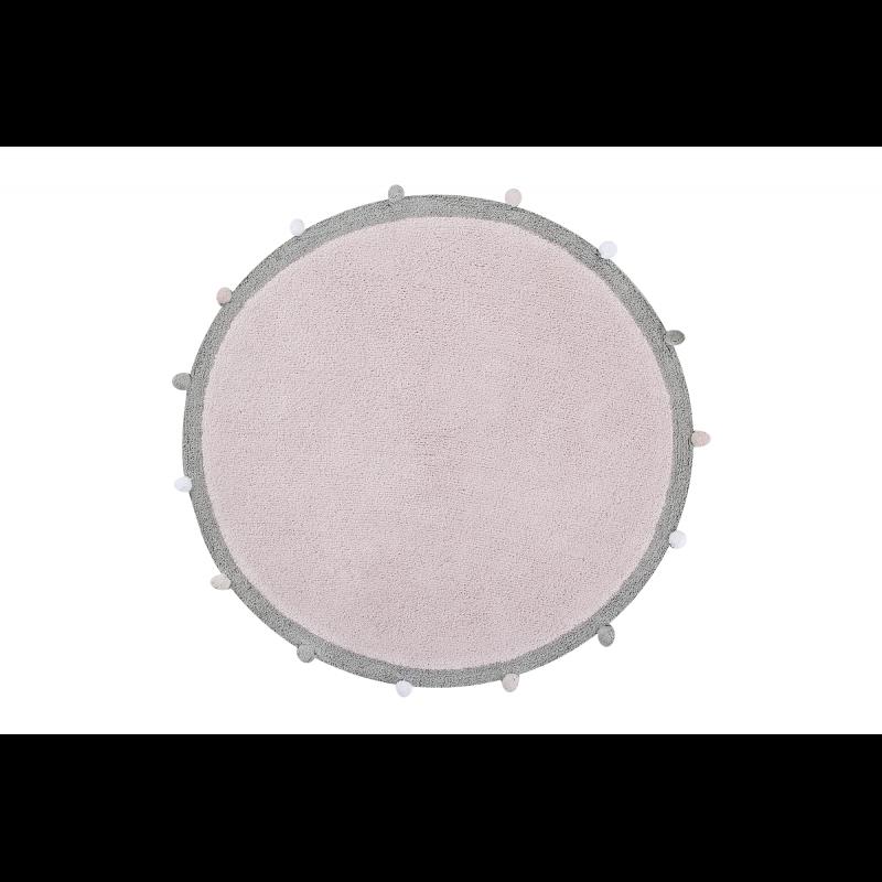 Bubbly Soft Pink skalbiamas kilimas