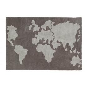 World Map skalbiamas kilimas