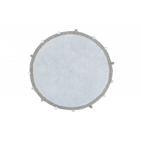 Bubbly Soft Blue skalbiamas kilimas