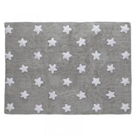 Stars skalbiamas kilimas Grey - White