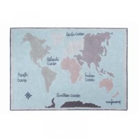 Vintage Map skalbiamas kilimas