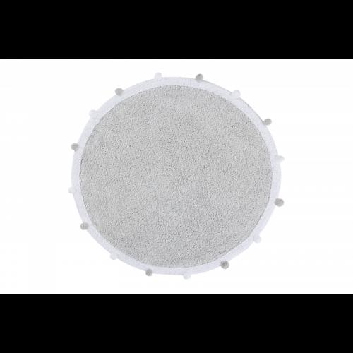 Bubbly Light Grey skalbiamas kilimas