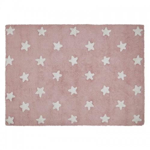 Stars skalbiamas kilimas Pink - White