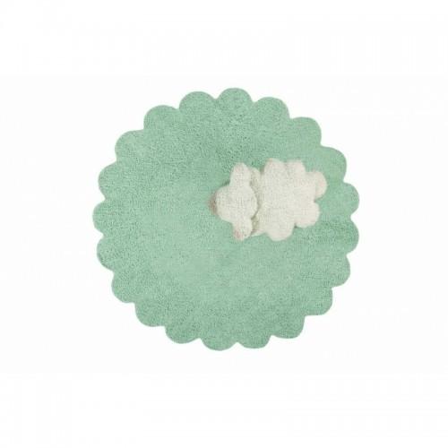 Puffy Sheep skalbiamas kilimas - Žalias