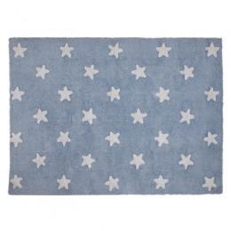 Stars skalbiamas kilimas Blue - White
