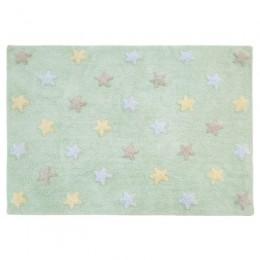 Stars skalbiamas kilimas Tricolor Stars- soft Mint