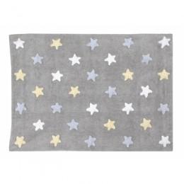 Stars skalbiamas kilimas Tricolor Stars Grey-Blue