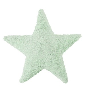 Star Soft Washable Cushion -  Mint