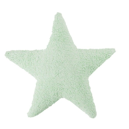 Star Soft Washable Cushion -  Mint
