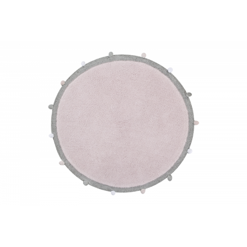 Bubbly Soft Pink Washable Rug