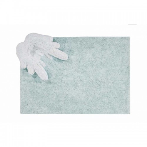 Puffy Wings Washable Rug - Blue